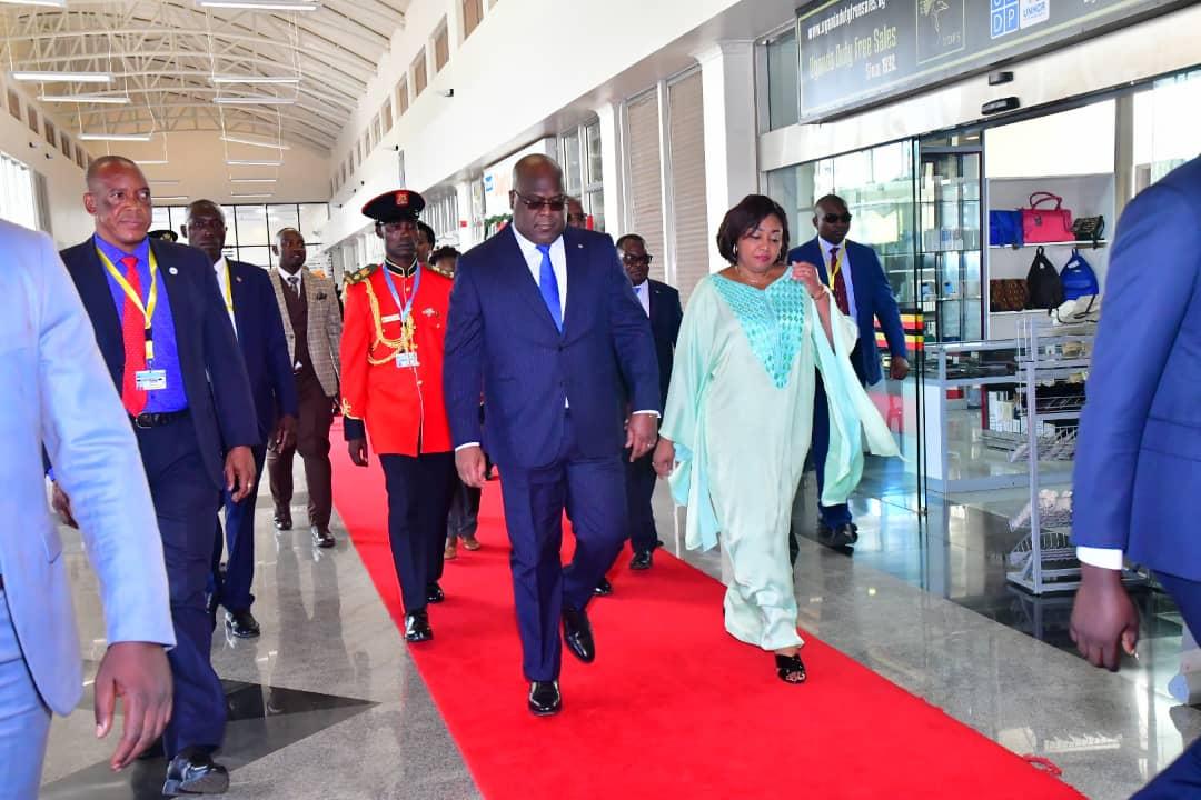 DIPLOMATIE : LE PRÉSIDENT DE LA RÉPUBLIQUE FELIX ANTOINE TSHISEKEDI EN VISITE D'ETAT EN OUGANDA.