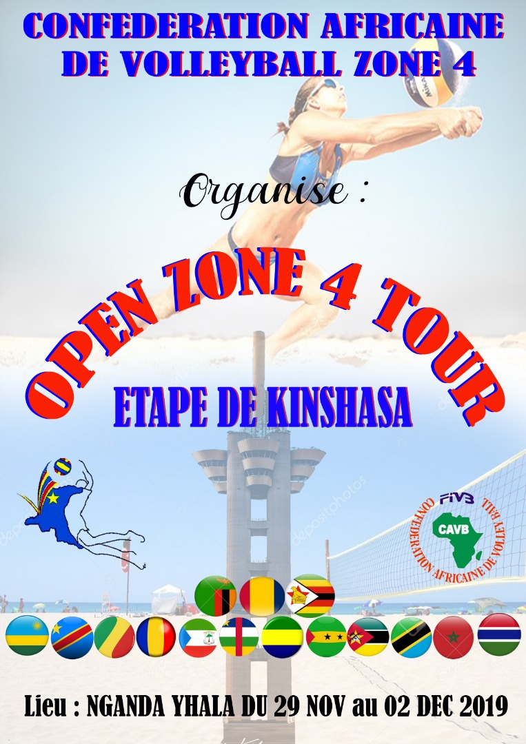 Beach-Volley : Kinshasa organise l'Open Zone 4 Tour.