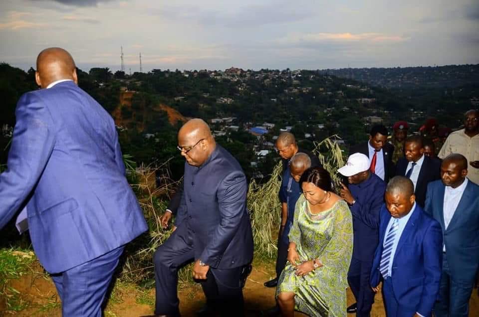 Kinshasa : Félix Tshisekedi visite la ville après la pluie