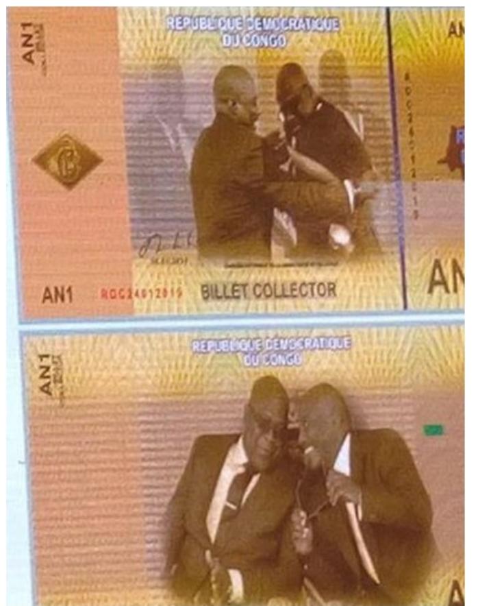Banque Centrale de Congo : Bientôt un nouveau billet de 10000 FC avec images de Joseph Kabila et Félix Tshisekedi.