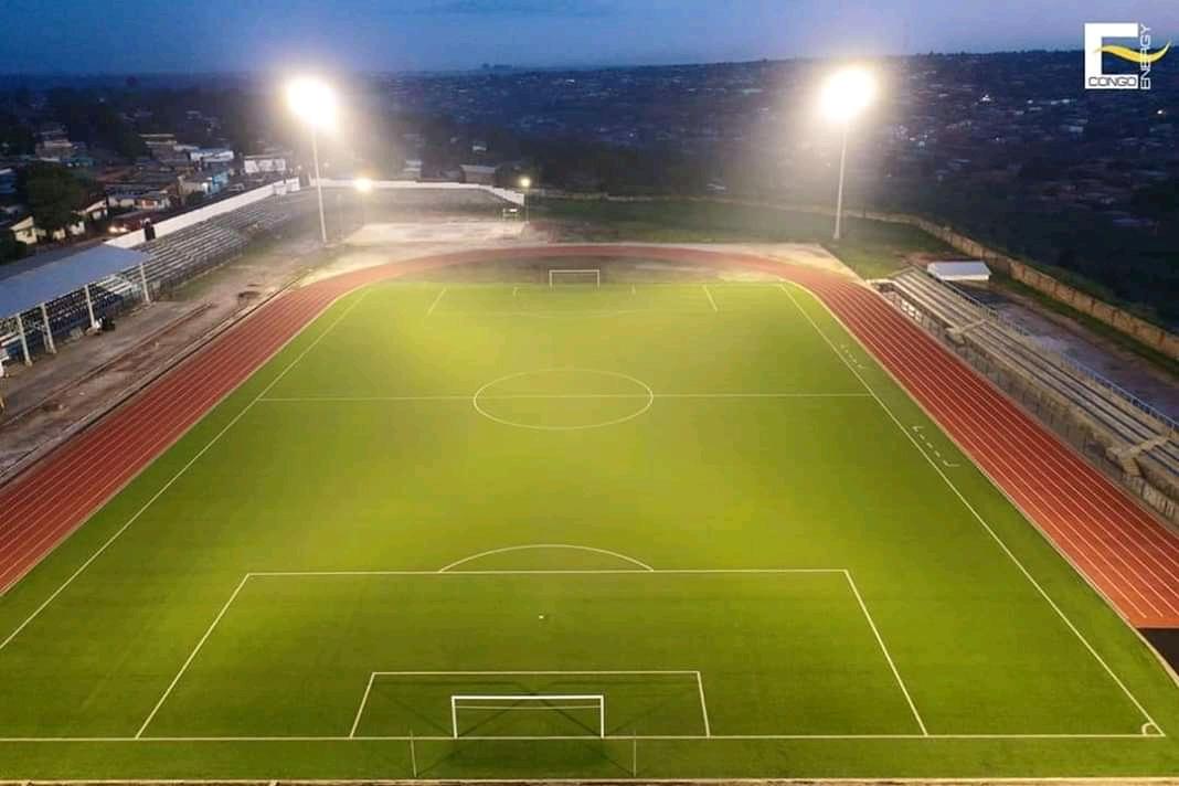 Lualaba : Le Stade Dominique DIUR de Kolwezi , de nouveau opérationnel, plus de 3 ans après.