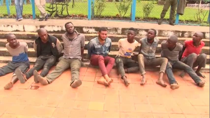Haut-Katanga/ Opération insécurité zéro : Huit présumés bandits présentés au vice-gouverneur.
