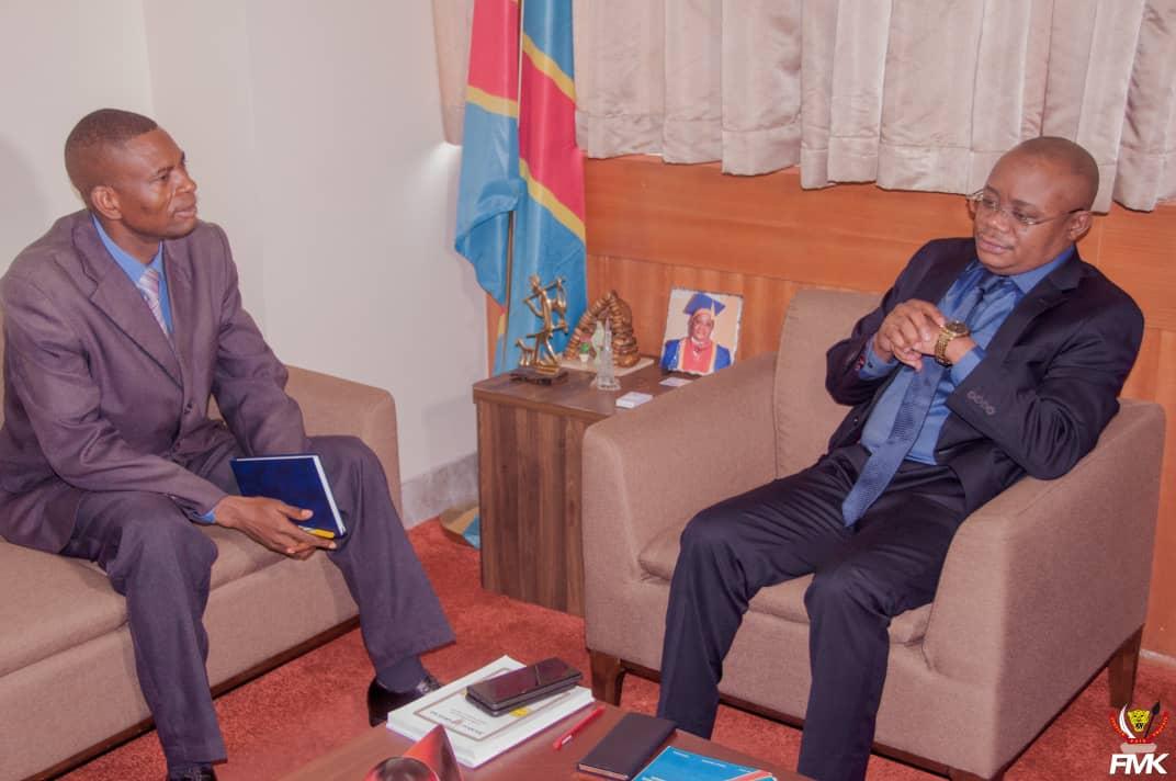 Ministère du budget/ Impôt Professionnel sur le Revenu : Félix Momat Kitenge en discute avec l'intersyndical de l'UNILU.