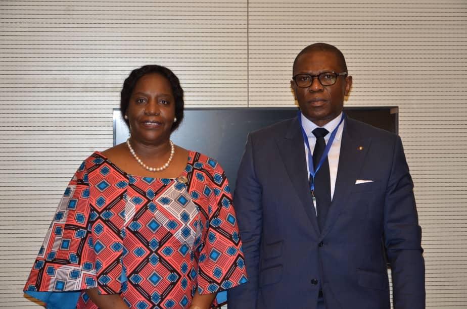 Ministère de l'intégration régionale/ Addis Abeba : Tête à tête Pépin-Guillaume Manjolo-Louise Mushikiwabo.