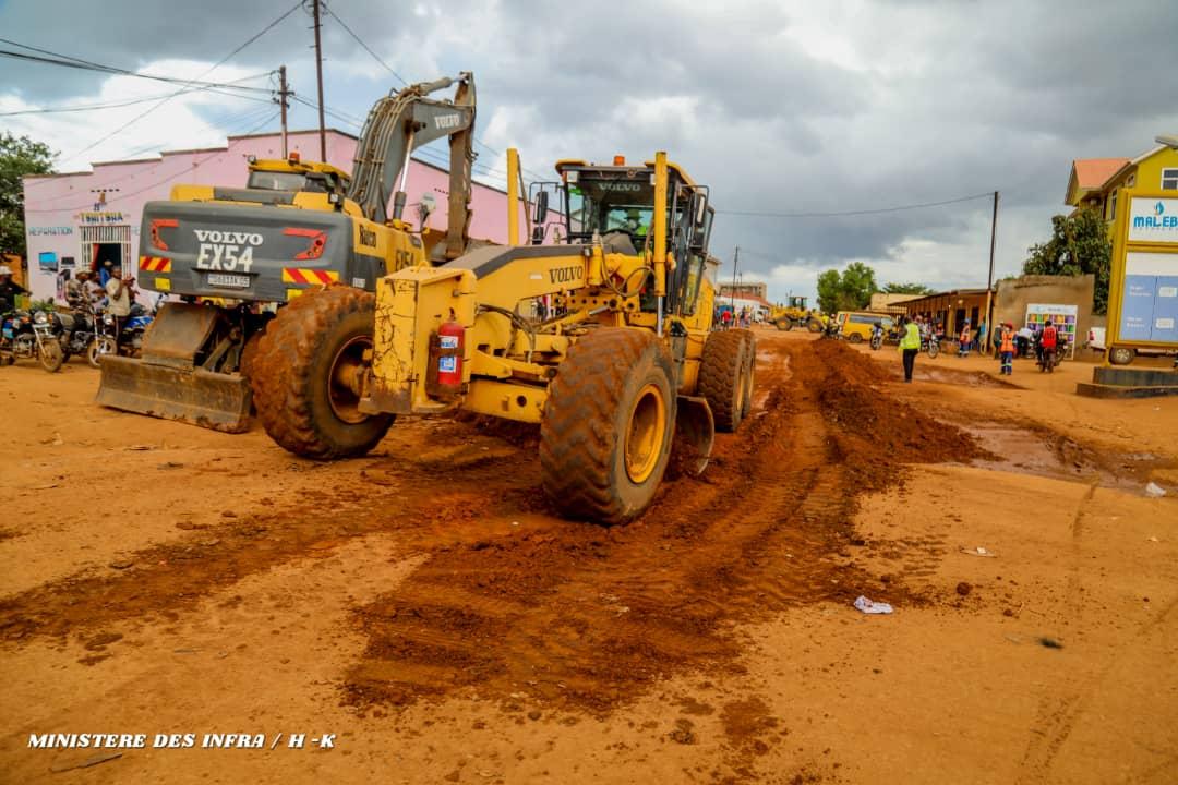 Haut-Katanga : Le chantier routier évolue bien à Lubumbashi.