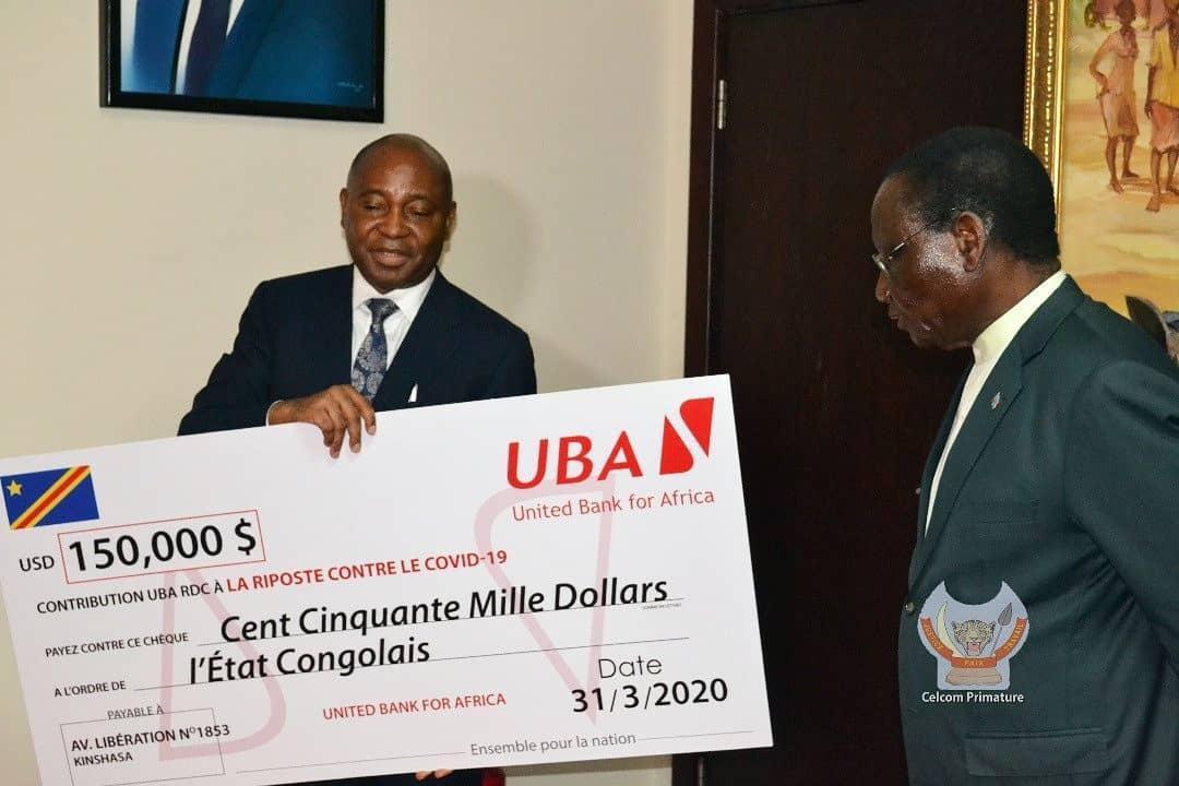 Lutte contre Coronavirus : L'UBA, première banque en RDC à donner sa contribution.