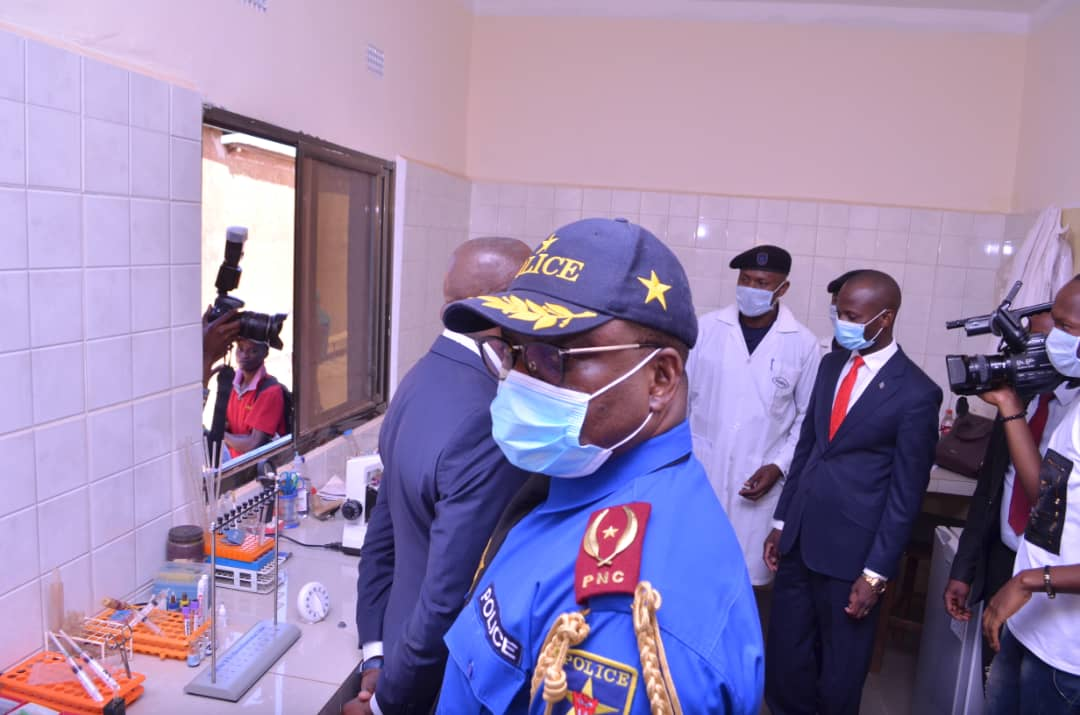 Haut-Katanga/ Lubumbashi : LE VICE-GOUVERNEUR KAMFWA INAUGURE L'HÔPITAL PROVINCIAL DE RÉFÉRENCE DE LA PNC.