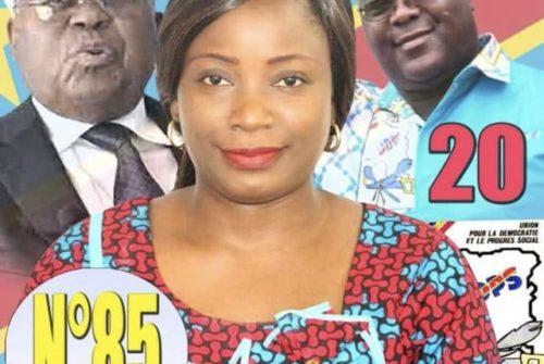 UDPS : Patricia NSEYA, candidate retenue pour la première vice-présidence de l'assemblée nationale.