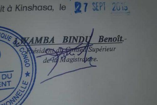 Cour constitutionnelle : Quid sur le faux et usage de faux en écriture.