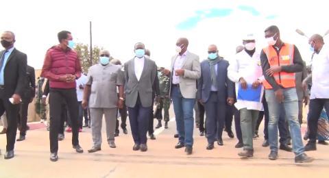 Haut-Katanga/ Visite des chantiers : Le premier ministre Ilunkamba content et surpris du travail abattu par le gouvernement Kyabula.