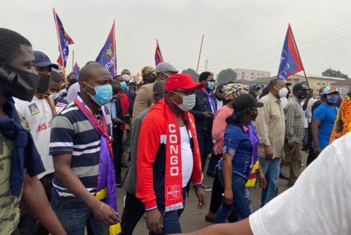 La marche FCC : Dieudonné NKISHI et le Congo Positif étaient du nombre.