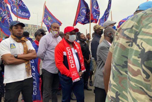 Marche du FCC : Dieudonné NKISHI et CONGO POSITIF étaient du nombre.