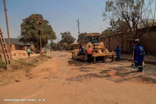 Haut-Katanga/Lubumbashi : Démarrage des travaux de réfection de l'avenue Victimes de la rébellion au bel-air.