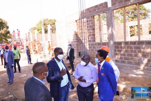 Lubumbashi : Bonne évolution des chantiers de l'UNILU et de l'ISS grâce à l'appui du gouvernement provincial.