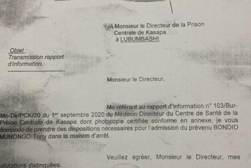 Haut-Katanga/Affaire détournement des fonds alloués à l'importation de la farine : Tony Munongo sous mandat d'arrêt provisoire.