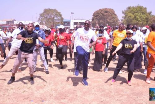 """Haut-Katanga/ Marche """"Merci Lubumbashi"""" : Le gouvernement Kyabula Katwe présent et bien représenté."""