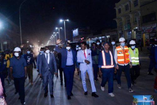 Eclairage public à Lubumbashi : La lumière reprend sa place de choix; la Chausée Mzee LD Kabila, une vitrine.