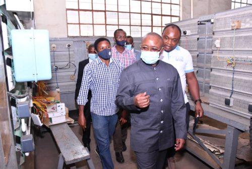 Goma :  L'Institut Technique Industriel des Salésiens de Don Bosco visité par Félix Momat.