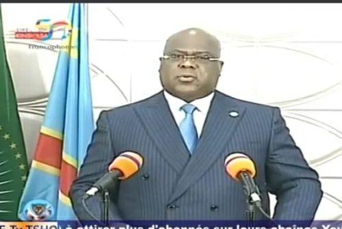 Présidence de la République/Discours du chef de l'État : TSHISEKEDI se met au dessus de la mêlée et prend ses responsabilités.