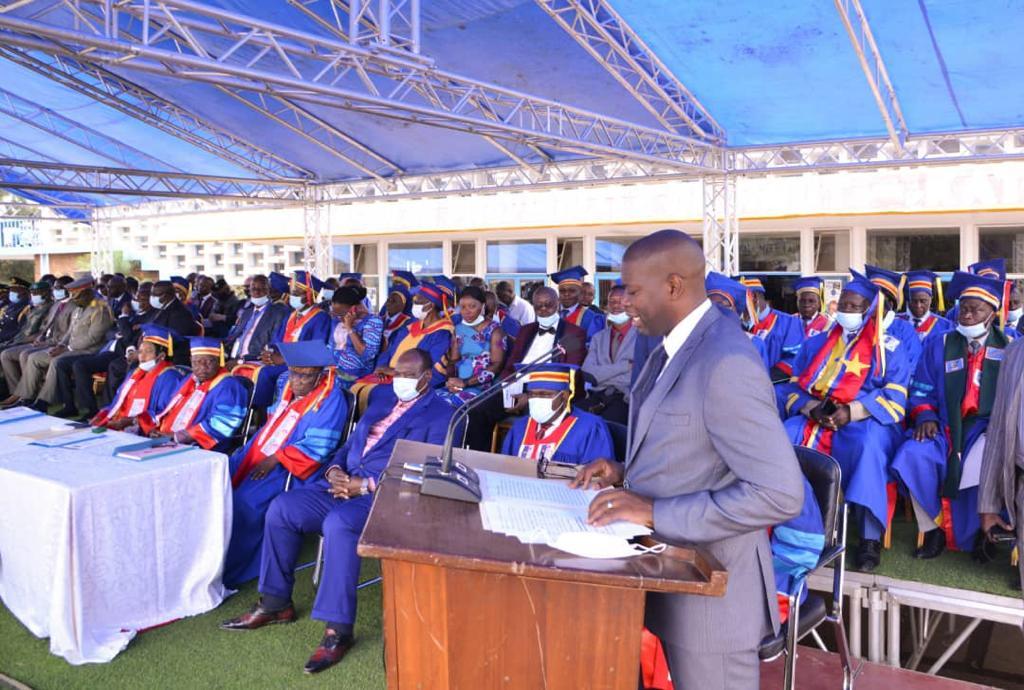Lubumbashi : collation des grades académiques de l'Université de Lubumbashi au bâtiment du 30 juin.